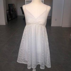 Express Dresses - White Eyelet Express Dress
